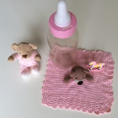 Girl Baby Gift - Money Box, Soft Toy, Security Blanket