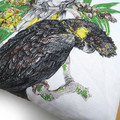 Vintage Retro Australian Cockatoo Birds Cushion Cover