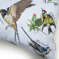 Vintage Retro British UK Birds Linen Cushion Cover