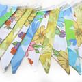 Vintage Retro Retro Pretty Spring Floral Flags Bunting