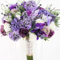Purple Lavender & Rosebud Rustic  Bridal Bouquet with Matching Buttonhole