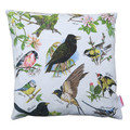 Vintage Retro British Birds Linen Cushion Cover