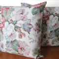 Old Fashioned FLORAL Sanderson Cushion Cover.