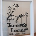 Personalised Wedding, Anniversary or Valentines papercut  keepsake.