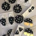 PoLKA DoT Collection - Hula Hoop Maxi Dangles (Monochrome)