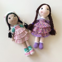 Two Crocheted Dolls