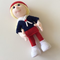 Posable Crocheted Doll