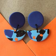 Blue Disco Earrings