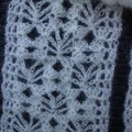 Soft and Light Cream Lacy Scarf