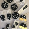 PoLKA DoT Collection - Half Moon Studs (Monochrome)