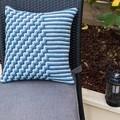 Three Colour Crochet Cushion Cover in 100% Australian Wool