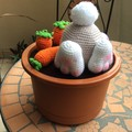 Easter Decoration - Bunny Digging for Eggs