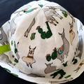 LIME LLAMA SOFT COTTON BABY HAT