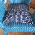 SPACE PATCHWORK PRINT  CUSHION  (Includes Insert)
