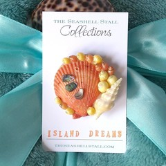"Seashell Fridge Magnet - ""Island Dreams"" Collection"