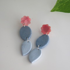 Duo Blue Drops with Pink