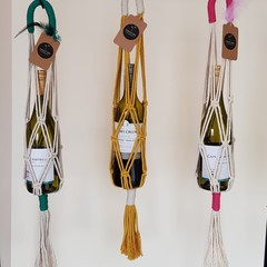 Macrame Cotton Wine Totes