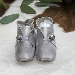 Unique Genuine Leather Soft Sole Baby Shoes - 10cm