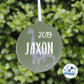 Xmas Glitter Dinosaur Bauble Personalised Christmas  Decoration  Keepsake 2019