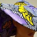 BATIK PRINT EXTRA WIDE BRIMMED HAT