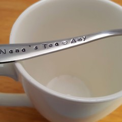 Customise Gift for Nana, Nanna, Grandma, Stamped, custom Teaspoons ,spoon