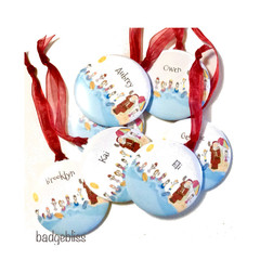 Personalised Christmas decorations - Swim Santa