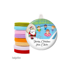 Personalised Christmas decorations - Pool Santa