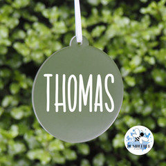Xmas Bauble, Personalised Christmas  Decoration Name Keepsake