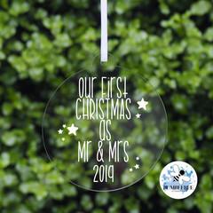 First Christmas together Mr & Mrs Decoration Married Keepsake Bauble 2019