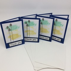 Mini Thank You Card Set - Blue