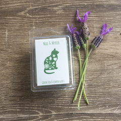 Green Tea and Lemon grass, Soy Wax Melt - Hand poured, Maximum Fragrance