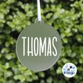 Xmas Bauble, Personalised Christmas  Decoration Name Keepsake