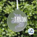 Glitter Unicorn Bauble Personalised Christmas  Decoration Name Keepsake 2019