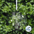 First Christmas together Mr & Mrs Decoration Married Keepsake Bauble 2019
