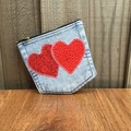 Upcycled denim pocket purse