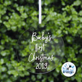 Baby's First Christmas  Decoration Name Keepsake Bauble 2019