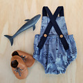 LAST CHANCE - Nautical Baby Boy Romper - Toddler Ships and Boats Overalls
