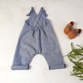 Blue Chambray Kids Overalls - Toddler Boys Jumpsuit - Unisex Dungarees
