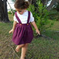 Mulberry Skirt With Suspenders - Toddler Girls Pinafore Skirt -