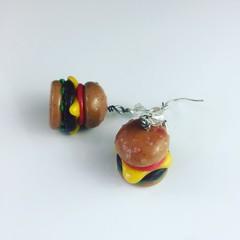 Burger Earrings
