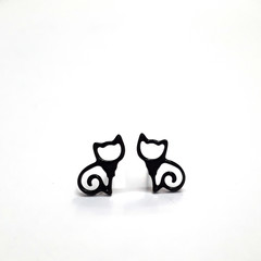 Kitty Cat earstuds - Sooty