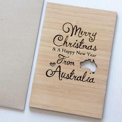 Bamboo Christmas Card From Australia