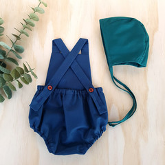 Midnight Blue Baby Romper - Navy Blue Toddler Playsuit