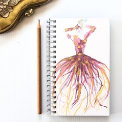 Notebook, Sketch Book, Journal, Diary Irises Fashion + Junior Artist Design