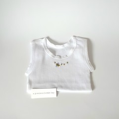 Hand-Embroidered Bumble Bee Singlet - Baby Clothes