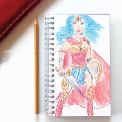 Notebook, Sketch Book, Journal, Diary Superhero + Junior Artist Design