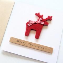 Felt Reindeer Christmas card