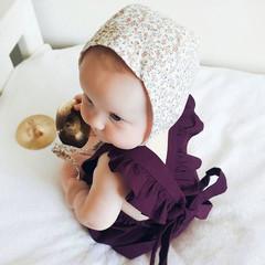 Mulberry Baby Girl Romper - Flutter Sleeve Boho Playsuit