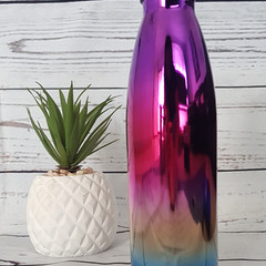 PERSONALISED DRINK BOTTLE - 500ml ombre' stainless steel double wall