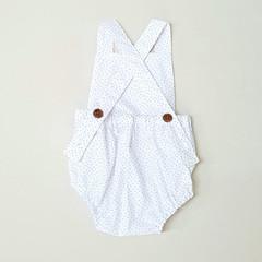 White Dotty Baby Romper - Toddler Girls Playsuit